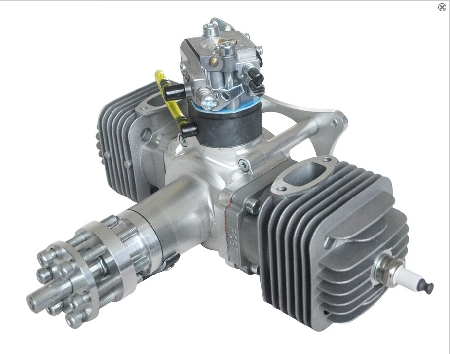 Rcgf 60cc Twin Engine 2 Cycle Piston Valve Type Gasoline