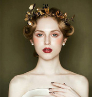 New Fashion Magnificent Rhinestone Bridal Tiaras Rhinestone Gold Head band for Women Wedding Pageant Hair jewelry Accessories