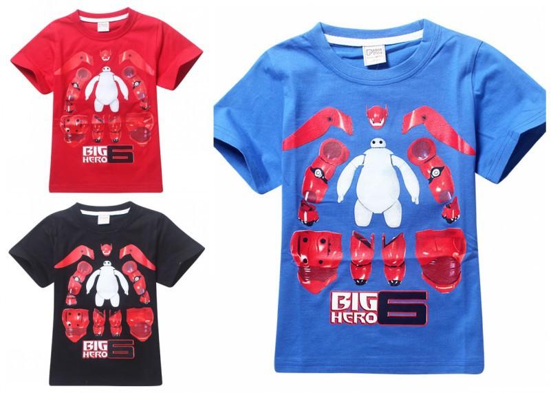 Wholesale EMS DHL Free Shipping Kids toddler Boys Children Big Hero Cotton T Shirt Cartoon Short Sleeve Top<br><br>Aliexpress