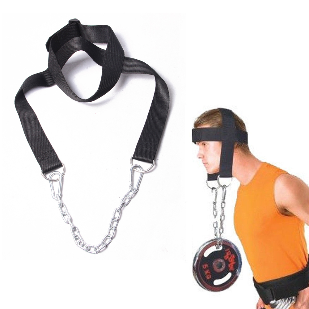 head and neck training bearing headgear muscles strength training equipment with chains and hanging barbell for  free shipping<br><br>Aliexpress
