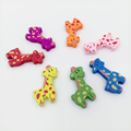 36x18mm Hot Selling Cartoon Deer Wood Wooden Spacer Beads Fit Children DIY Jewelry Mixed Color 50pcs
