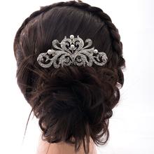 Women h Jewelry Bridesmaid Flower Hair Comb Tiara Faux Pearl Rhinestone Crystal For Wedding Bridal Hair Accessories 2222R