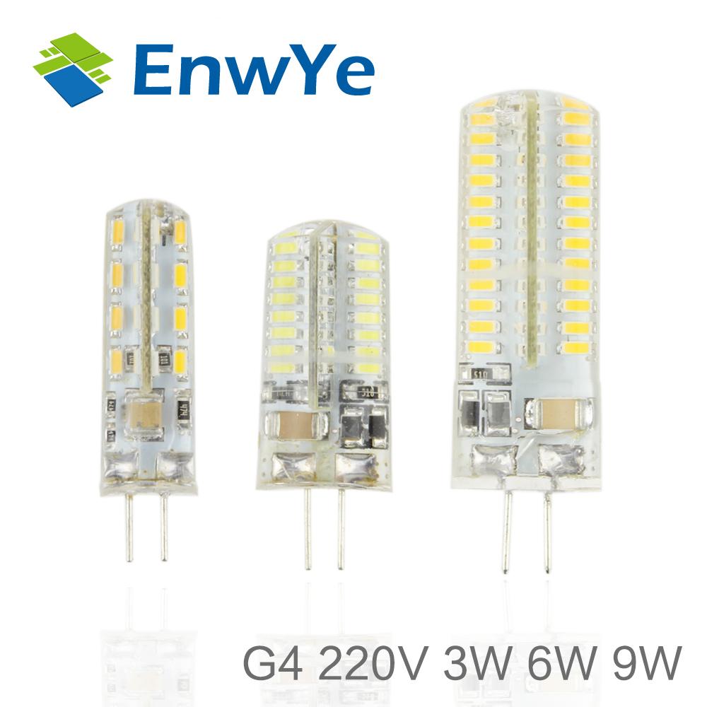 AC220V 230V 240V High Power G4 3W 32LED 6W 64LED 9W 96LED Lamp Replace 100W halogen lamp 360 Beam Angle LED Bulb lamp