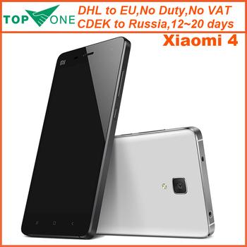 Оригинал Xiaomi Mi4 M4 Mi4i M 416 ГБ WCDMA FDD LTE мобильный телефон ос зев 801 четырехъядерных процессоров 2.5 ГГц Screen1920 * 1080 P камера 13MP