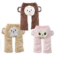New child harem pants bib pants winter fleece pants baby clothing cotton full length with monkey  warm trousers AP008(China (Mainland))