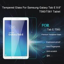 2015 New Arrival 9H Premium Tempered Glass Screen Protector For Samsung Galaxy Tab E 9.6 inches T560 T561 Protective Film