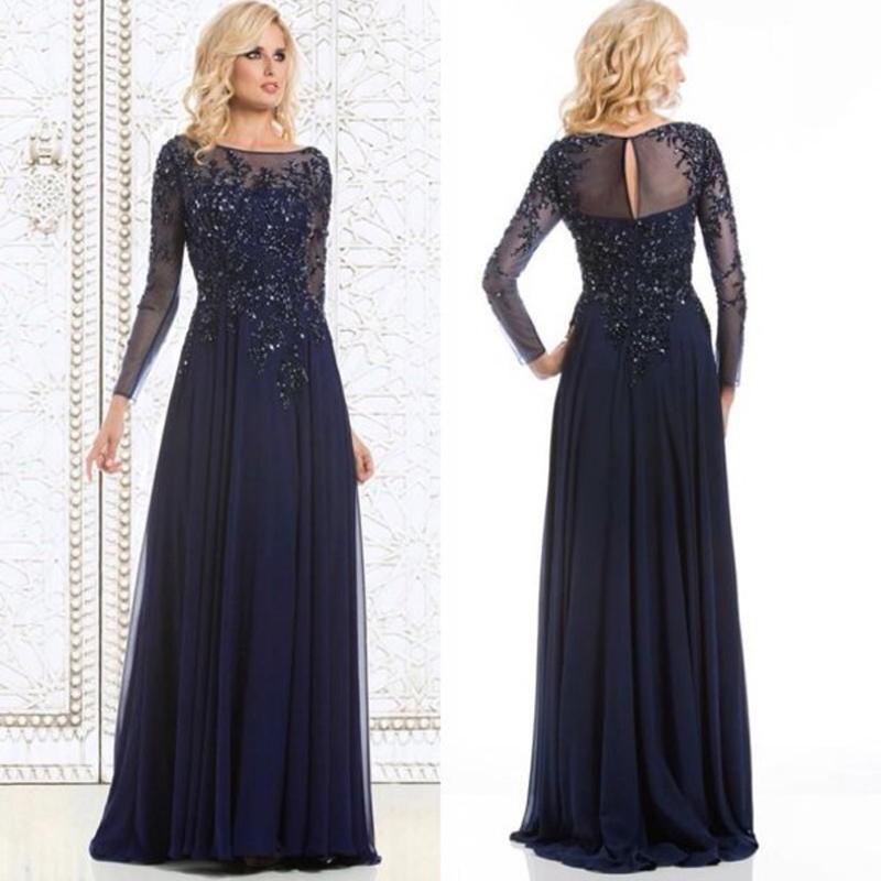 Online Get Cheap Long Sleeve Blue Formal Dress -Aliexpress.com ...