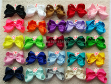 new arrival 25pcs/lot 5 Inches Big Grosgrain Ribbon Hairbows,Baby Girls' Hair Accessories With Clip, DIY Hair Bows  P(China (Mainland))