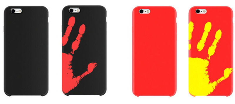 Case For iPhone 5s 6s 7 for Samsung S8 S7 S8 Plus for Huawei P9 Lite for RedMi 3S Note 4 OPPO VIVO Soft TPU Thermal Sensor Cover