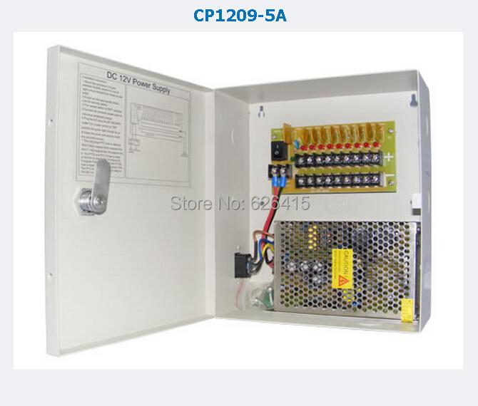 CCTV Camera  Power Supply BOX CCTV 9CH 12V 5A AC 100-240V