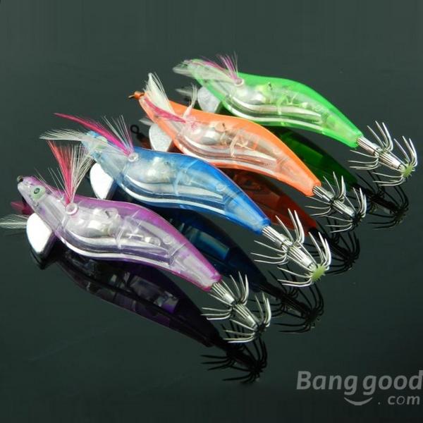 High quality Electronic Luminous Shrimp Lure Squid Fishing Jigs Lures Bass Bait(China (Mainland))