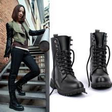 2016 nueva primavera y otoño botas para las mujeres de la motocicleta martin botas de cuña de la plataforma zapatos botas de nieve de moda femenina de gran tamaño 35-42(China (Mainland))