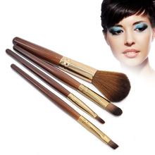 Professional Soft 4Pcs Makeup Eyeshadow Lip Blush Foundation Brush Set Cosmetic Tool Beauty For Women Free Shipping