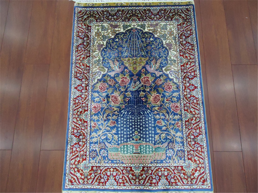 made in china handmade knotted silk rug carpets for livingroom and bedroom(China (Mainland))