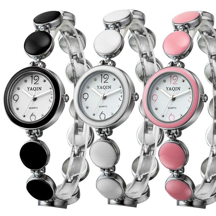 2015 women wristwatch fashion casual quartz watch watches alloy bracelet luxury dress black white pink - Fashion forward store