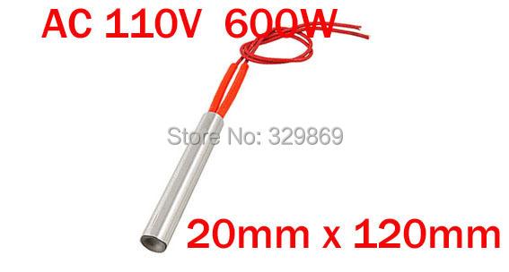 110VAC 600W Power 20mm x 120mm Stainless Steel Single Head Cartridge Heater <br><br>Aliexpress