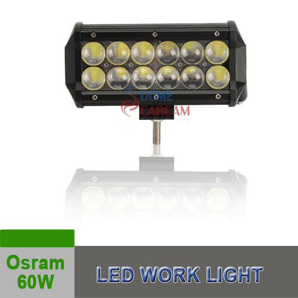 7Inch 60W Osram Led Work Light Spot Bar Offroad 4WD Driving Truck Bar 10-50V Offroad lighting Auto Parts Car Headlight(China (Mainland))