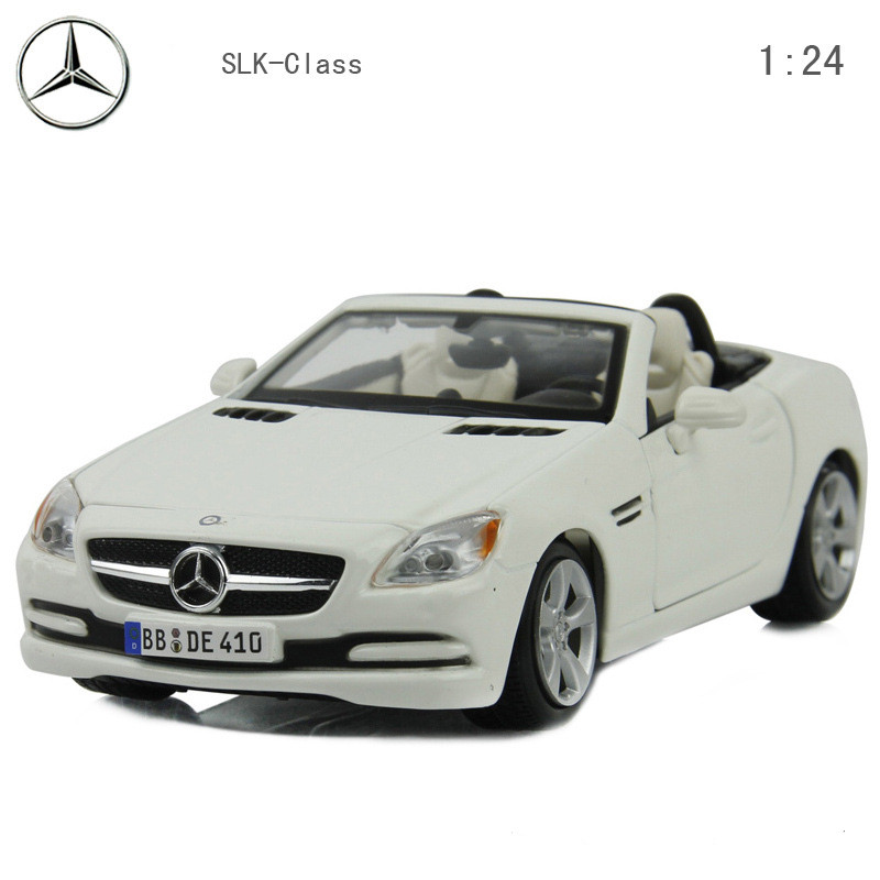 1: 24 alloy car, high simulation model convertible roadster SLK-class, metal diecasts, the children's toy vehicles,free shipping(China (Mainland))