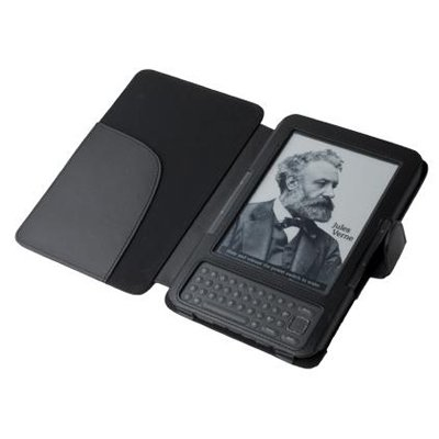 Kindle 3 Case , Leather wallet case cover for Amazon Kindle 3 3g Wifi ; 10PCS/LOT(China (Mainland))