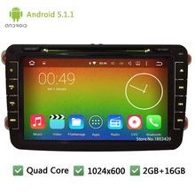 QuadCore Android 5.1.1 2Din 8″ 1024*600 Car DVD Player Radio Stereo For VW PASSAT B6 B7 CC Golf 5 6 Tiguan Touran EOS Jetta POLO