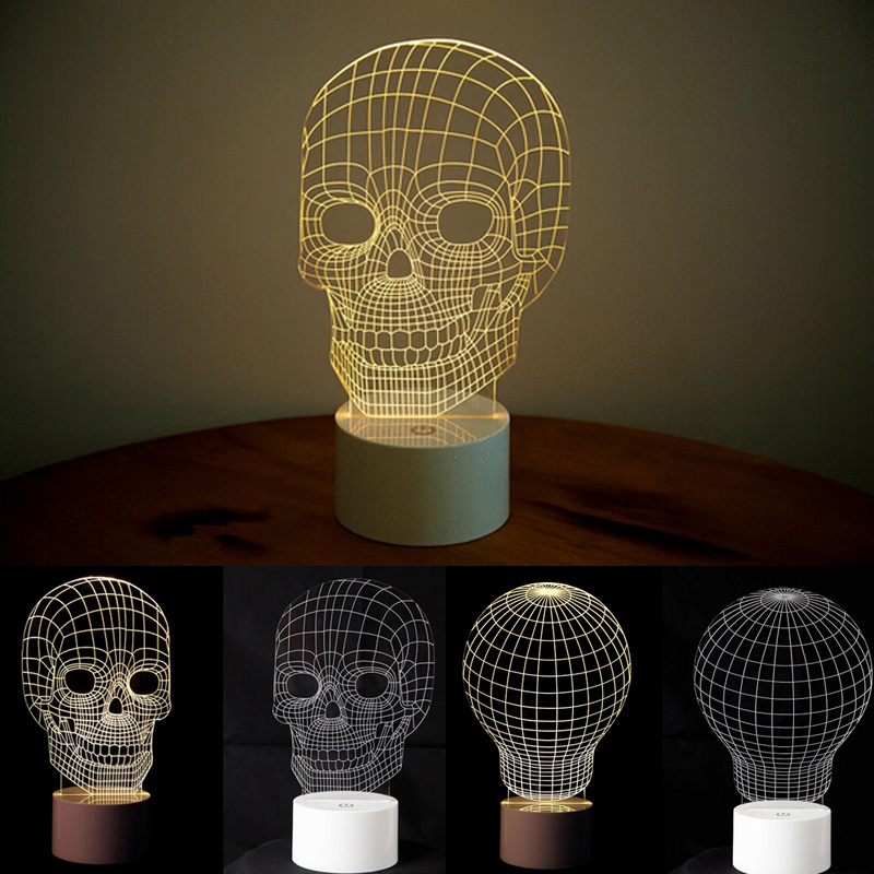 New 5730 LED Vision Light Touch Sound Sensor Lamp Personal Skull Lights Car Styling Source White Yellow Super Bright Home Party(China (Mainland))