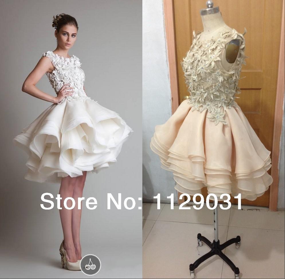 Online Get Cheap Multi Layer Puffy Skirt Short Wedding Dress ...