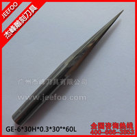 6*30H*0.3*30Degree*60L Taper  Flat End Mills/Cnc Tools/Cnc Router Bits /End Mills /For Acrylic/MDF.PVC.ABS/Plastic