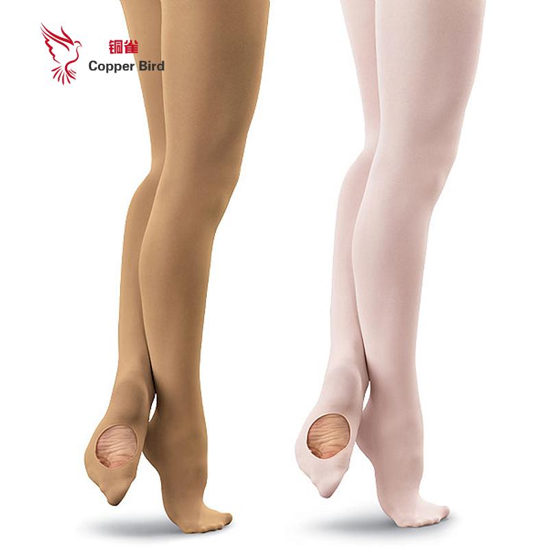2016 New Arrival New Unique Adult Girl White/Skin Velvet Ballet Tights Stockings Slim Dance Wear T-2002(China (Mainland))