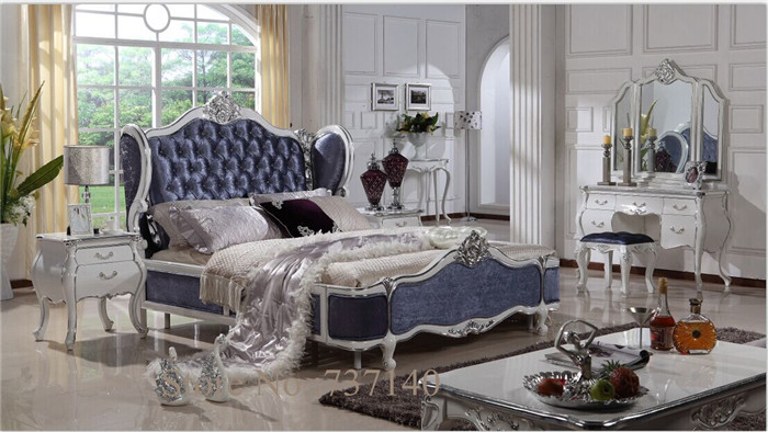 luxury solid wood bed antique bed styles oak bedroom furniture wood and fabric bed furniture buying agent wholesale price(China (Mainland))