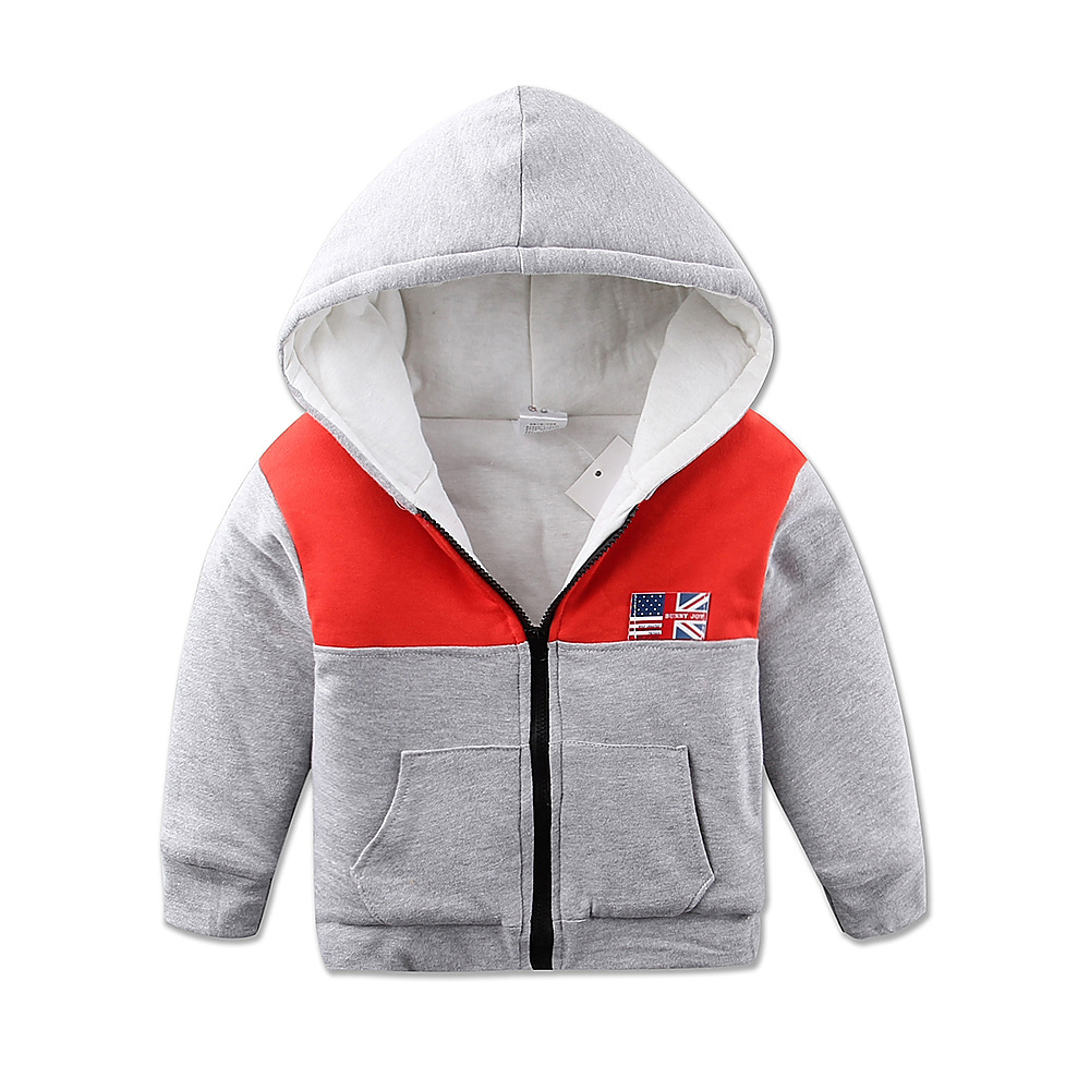 2016 Boys Hoodies Letters Hooded Cotton Jacket for Children Autumn Fashion Thick Warm Baby Boys Sweatshirts Spring Kids Hoody(China (Mainland))