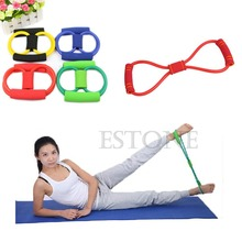 Resistance Training Bands Rope Tube Workout Exercise for Yoga 8 Type Fashion Body Fitness 1NKF