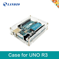 One set Transparent Box Case Shell for Arduino UNO R3 free shipping