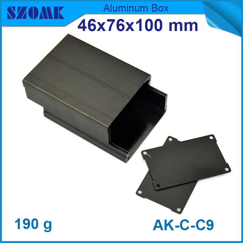 4pcs/lot black anodizing and powder coating aluminum extruded scrap for controller 46*76*100mm<br><br>Aliexpress