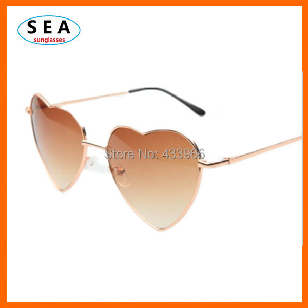 Heart Shaped Sunglasses WOMEN metal Reflective LENES Fashion sun GLASSES MEN sports Mirror oculos de sol 2014 new s0396(China (Mainland))