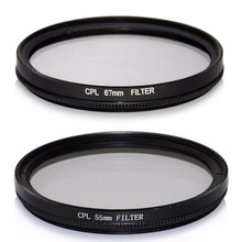 52/55/58/62/67/72/77/82mm CPL Filter Circular Polarizer Polarizing Glass Filter for Canon for Nikon For Sony Digital Camera Lens