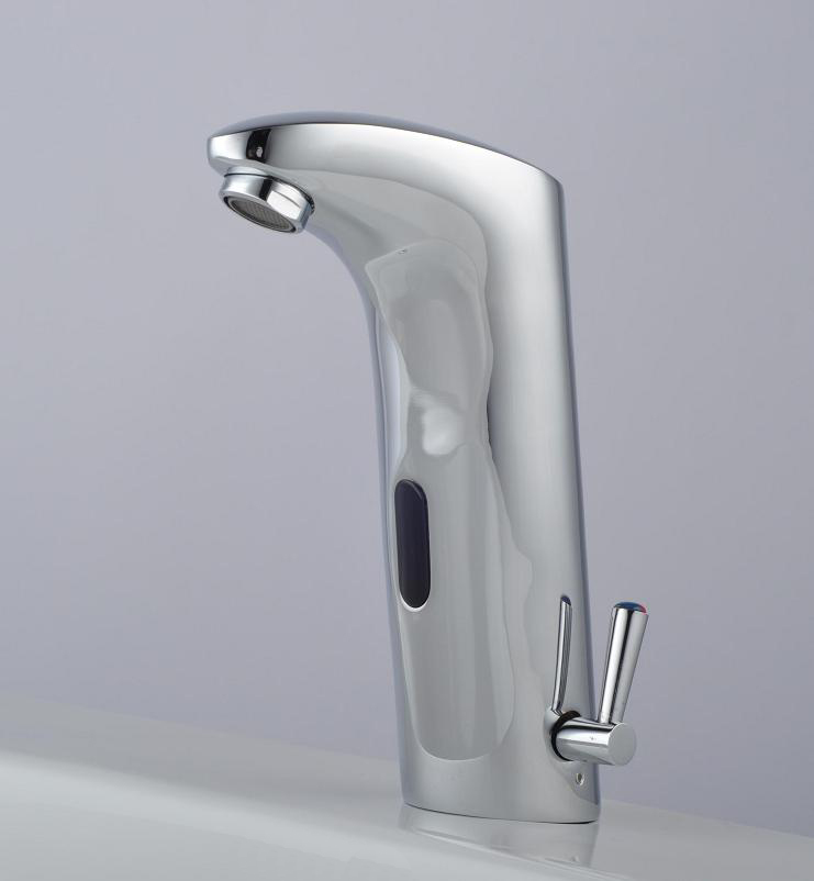 Touchless infrared sensor mixer tap faucet cold and hot