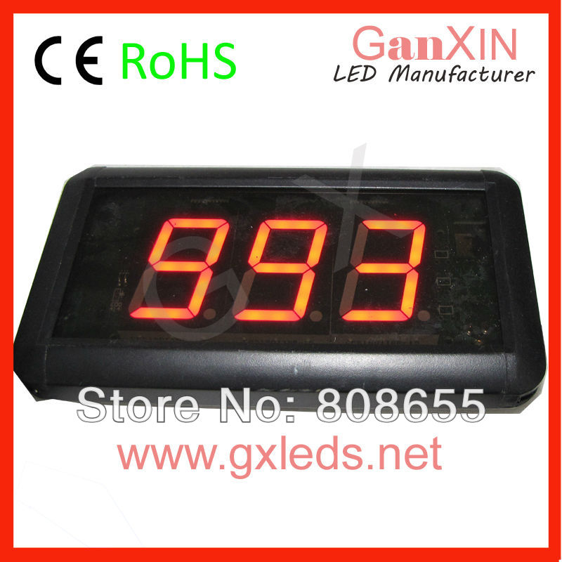 1.8inch hot sale indoor digital mini electronic queuing system led counter display(China (Mainland))
