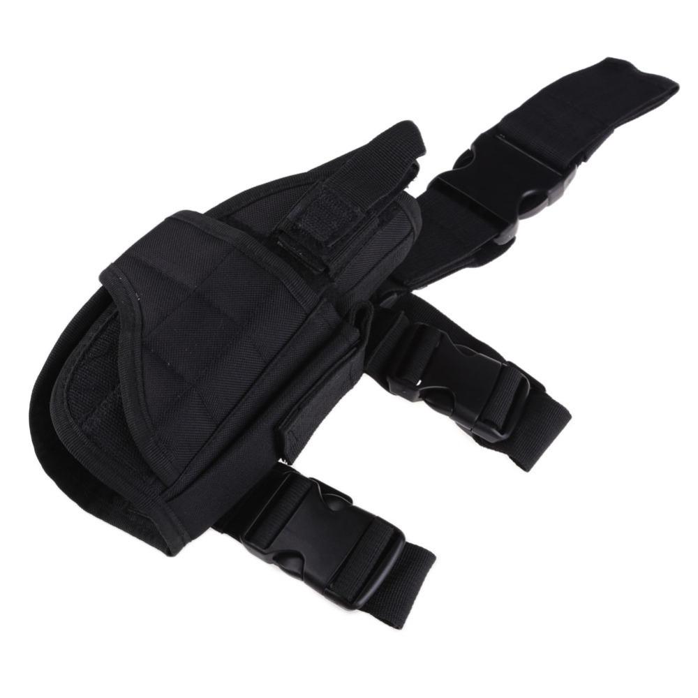 Adjustable Tactical Pistol Gun Drop Leg Thigh Holster w Magazine Pouch H1E1