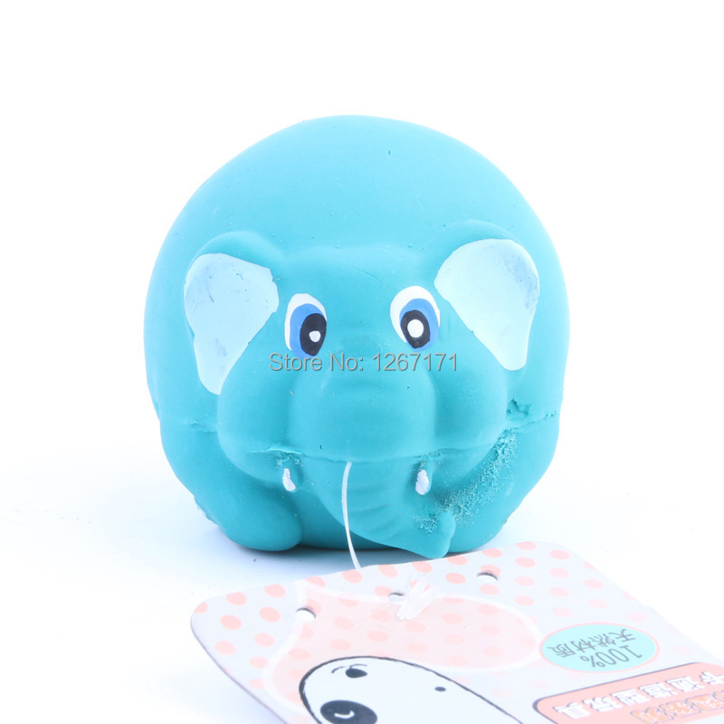 Pet Dog Puppy Latex Toy Squeak Squeaker Elephant Chew Fetch Toys Free&Drop Shipping CM-PTD0016(China (Mainland))