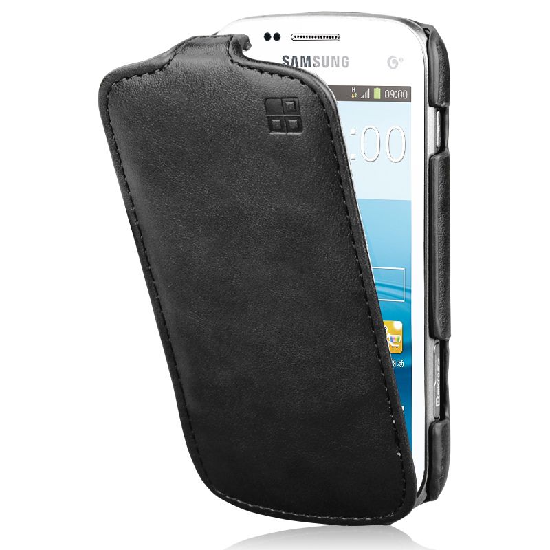 Flip Leather Case For samsung galaxy trend Plus GT S7580 ...