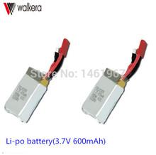 2 PCS/ Lot Original Battery Li-po battery(3.7V 600mAh) Walkera QR W100S / NEW V120D02S HM-V120D02S-Z-24 - W&W Sweet Store store