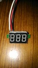 T2N2 Portable Digital Voltmeter DC0-100V Red Light LED Panel Voltage Meter  free shipping  drop shipping #00006