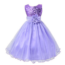Wedding Gowns Kids Formal Party Flowers Bridesmaid Christening Dresses Pageant Princess Dresses for Little Girls 3-10 Years