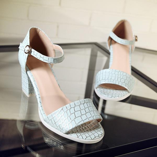 2015 summer new sweety buckle princess open-toe women sandals med  heels weomen sandals breathable comfort women sandalsE2975<br><br>Aliexpress