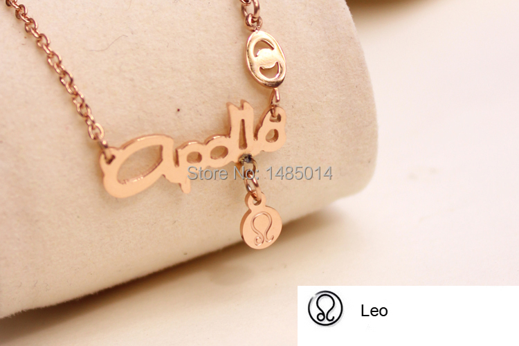 New Lady Girl Women Man Sexy Constellation Style Gemini Cancer Leo etc. Necklace Chain Pendant(China (Mainland))