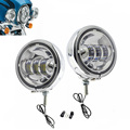 Free Shipping Pair 4 5 LED Projector Auxiliary Passing Spot Fog Head Light Lamp 4 5