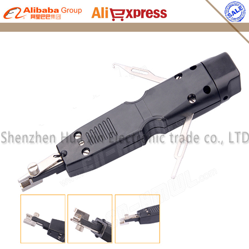 Free shipping Portable impact punch down tool used on KRONE 110 type 10 pairs Module Terminal Board Crimping Device(China (Mainland))