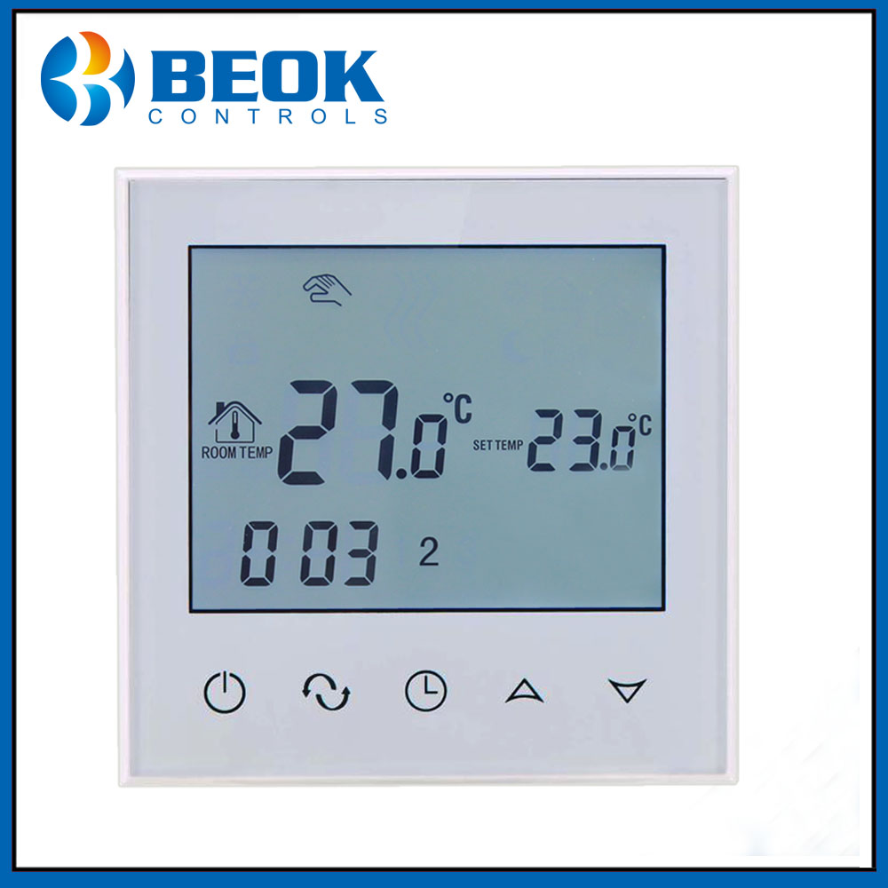 TDS21-EP 16A LCD Digital Heating Thermostat White Room Temperature Controller Weekly Programmable Display Floor Heating System(China (Mainland))