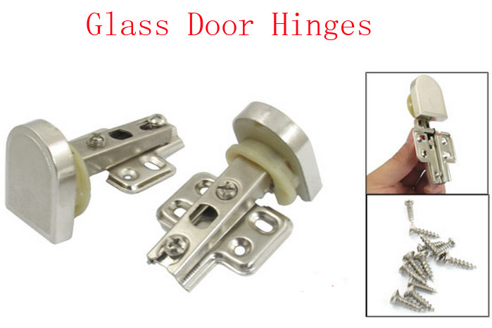 """1.2"""" Beige Cup 90 degree Angle Concealed Glass Door Hinge 4pcs(China (Mainland))"""