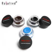 Rosalind Eyes Makeup Gel Eyeliner Cosmetics Set Eye Liner Kit 4 Color Optional Water-proof And Smudge-proof Brand Music Flower(China (Mainland))